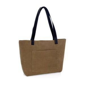 Olivová kožená kabelka Woox Rostellum