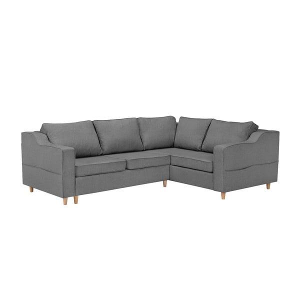 Jonquille szürke négyszemélyes kinyitható kanapé, jobb oldali - Mazzini Sofas