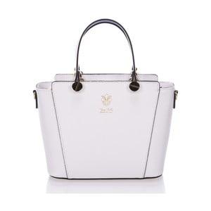 Bílá kožená kabelka Giulia Massari Mela
