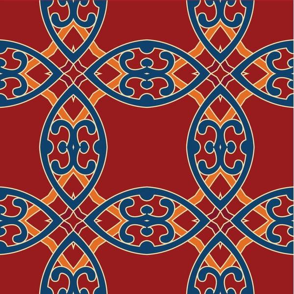 Samolepky Tile Art Red