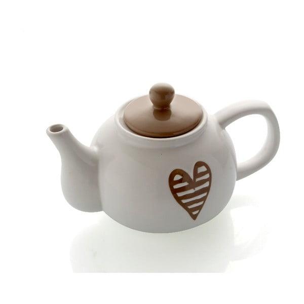 Šedá kameninová konvička na čaj Brandani Heartbeat