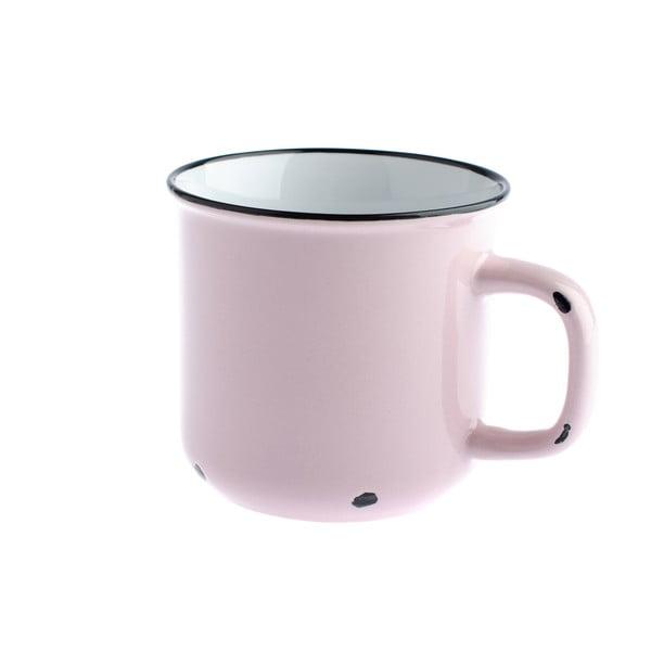 Růžový keramický hrnek Dakls, 440ml