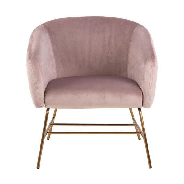 Jasnoróżowy fotel Actona Ramsey