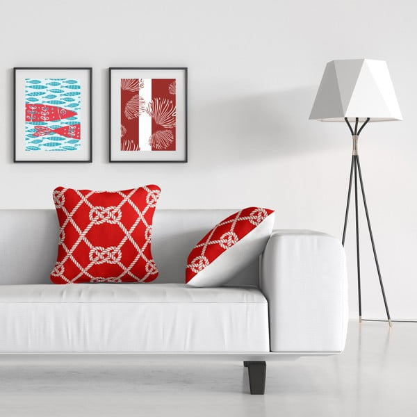 Polštář Red Rope, 43 x 43 cm