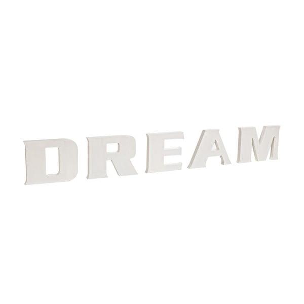 Dekorativní nápis Dream, bílý