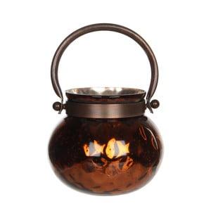 Stojan na svíčku Kito Copper Shiny, 13 cm