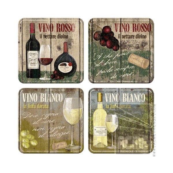 Set podtácků Vinno Rosso & Bianco
