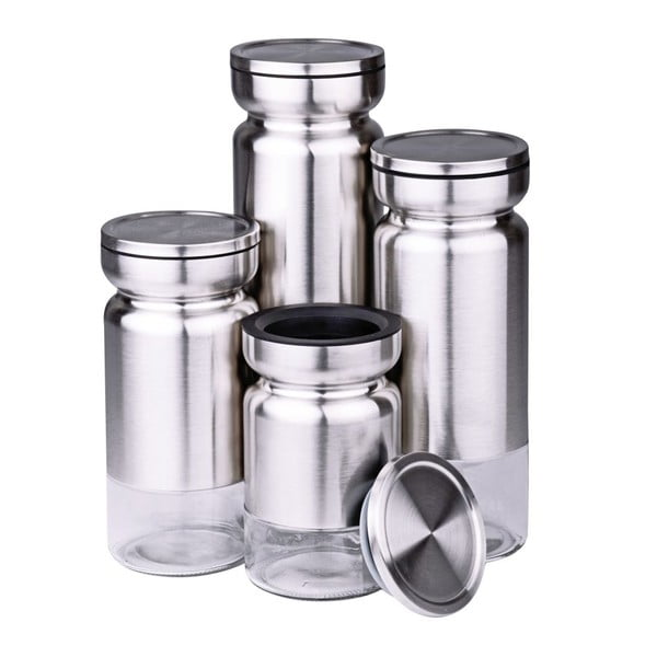 Sada 4 dóz Steel Lux