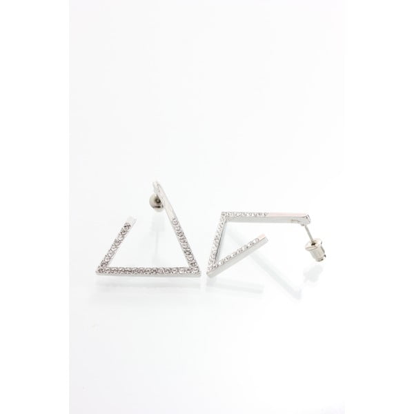 Náušnice s krystaly Swarovski Elements Laura Bruni Triangle