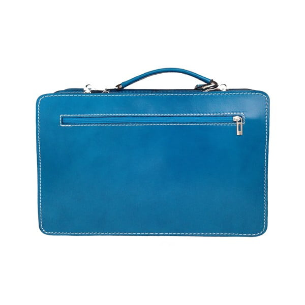 Kožená kabelka/kufřík Dolcetto, modrá