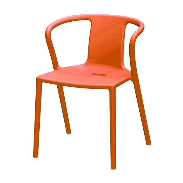 Pomarańczowe krzesło z podłokietnikami Magis Air