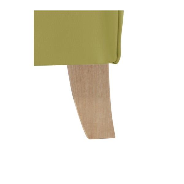 Zelené koženkové křeslo ušák Max Winzer Bruno