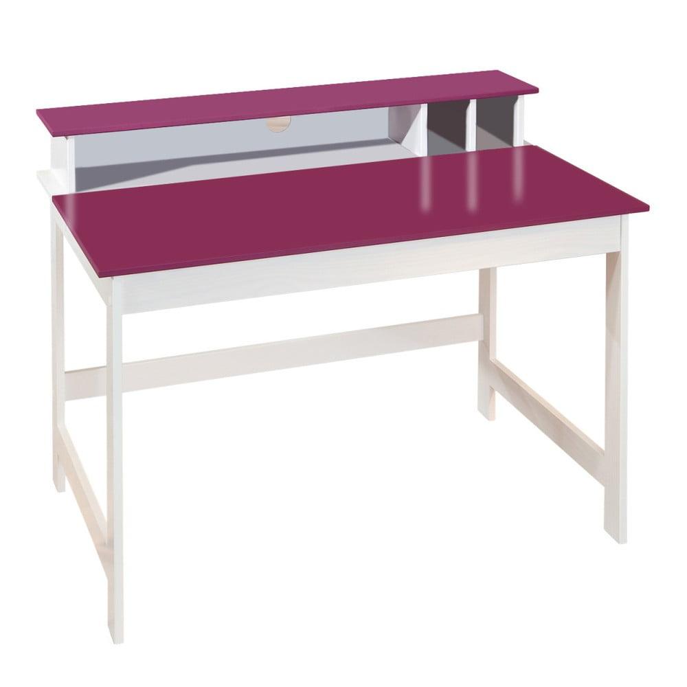 Růžovo-bílý psací stůl 13Casa Up