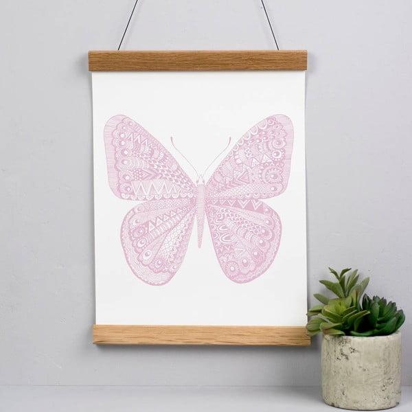 Plakát Karin Åkesson Design Butterfly Pink, 30x40 cm