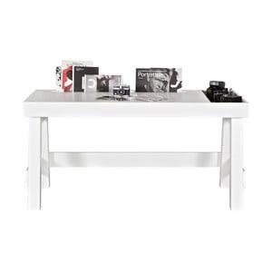 Bílý pracovní stůl z borovicového dřeva De Eekhoorn Grooving