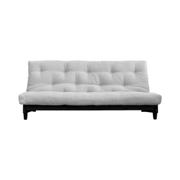 Sofa rozkładana z jasnoszarym pokryciem Karup Design Black/Light Grey
