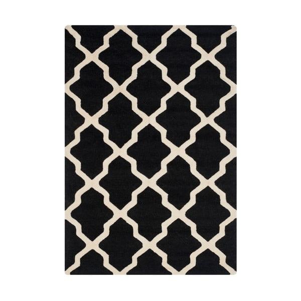 Ava Black gyapjúszőnyeg, 121 x 182 cm - Safavieh