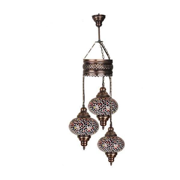 Skleněná závěsná lampa Three I, 13 cm