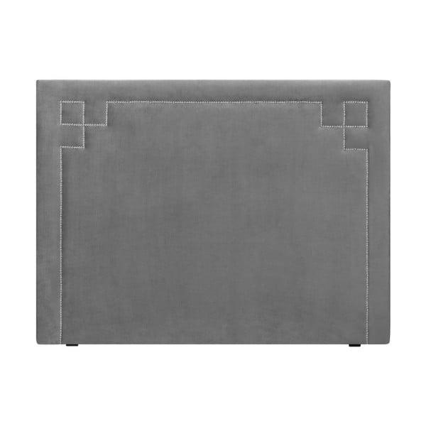 Světle šedé čelo postele THE CLASSIC LIVING Nicolas, 200 x 120 cm
