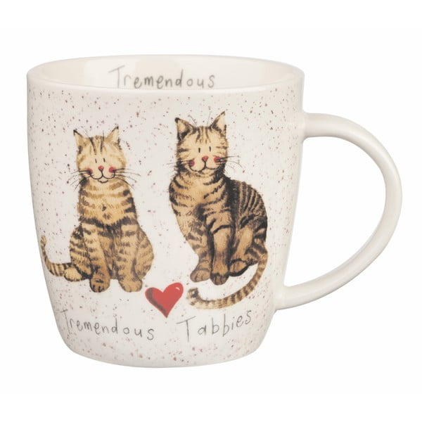 Porcelánový hrnček Churchill Tremendous Tabbies, 400 ml
