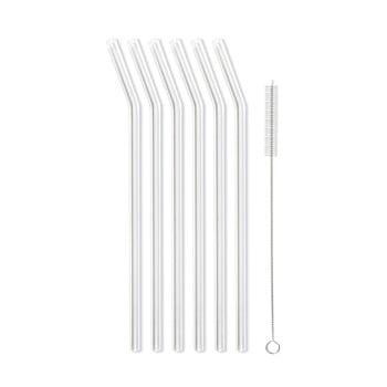 Set 6 paie din sticlă Vialli Design, lungime 23 cm, alb imagine