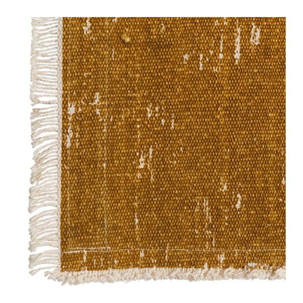 Tmavě žlutý běhoun na stůl Denzzo Boho, 45x150cm
