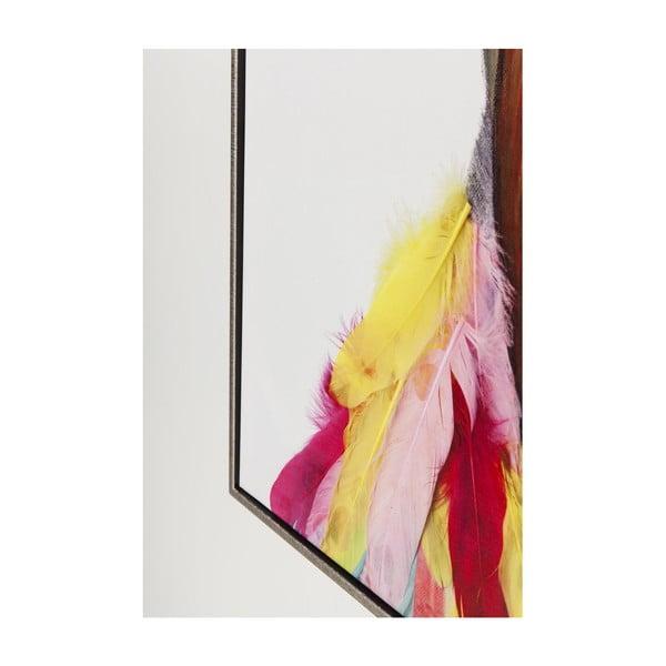 Tablou de perete Kare Design Flowers Bird, 102 x 72 cm