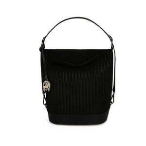 Černá kožená kabelka Beverly Hills Polo Club Adriane