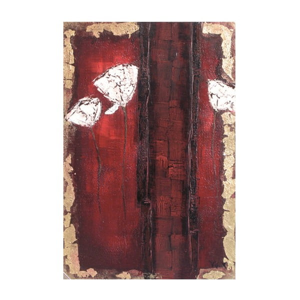 Olejová malba Tres Fleurs, 90x180 cm