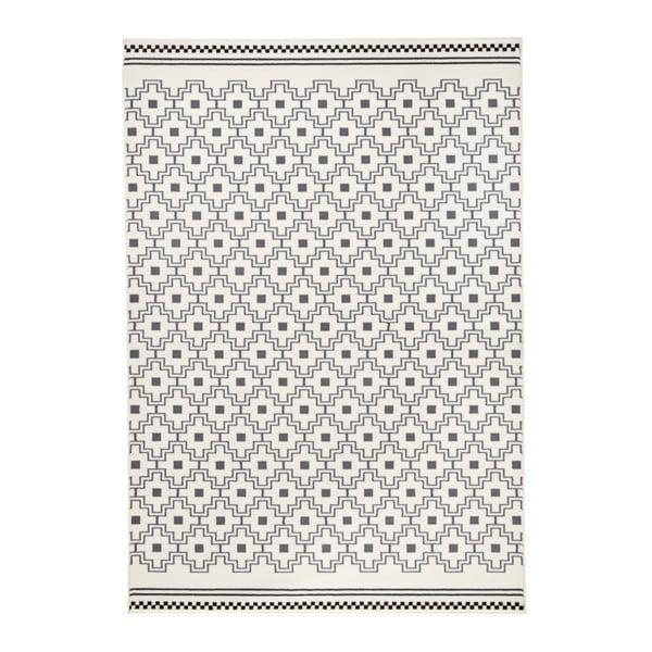 Černobílý koberec Zala LivingCubic, 70x140cm