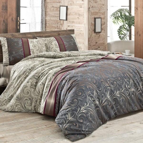 Lenjerie de pat cu cearșaf pentru pat dublu și 2 fețe de pernă Hurrem 200x220cm