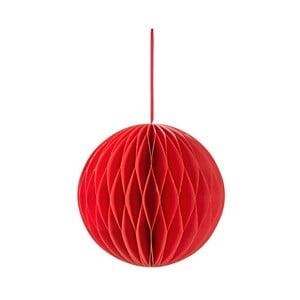 Červená závěsná papírová ozdoba Talking tables Decadent Honeycomb,výška15cm