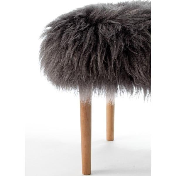 Stolička z ovčí kůže Carys Slate Grey