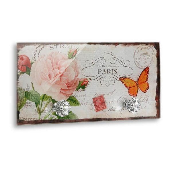 Cuier de perete cu 2 cârlige Versa Papillonn Paris