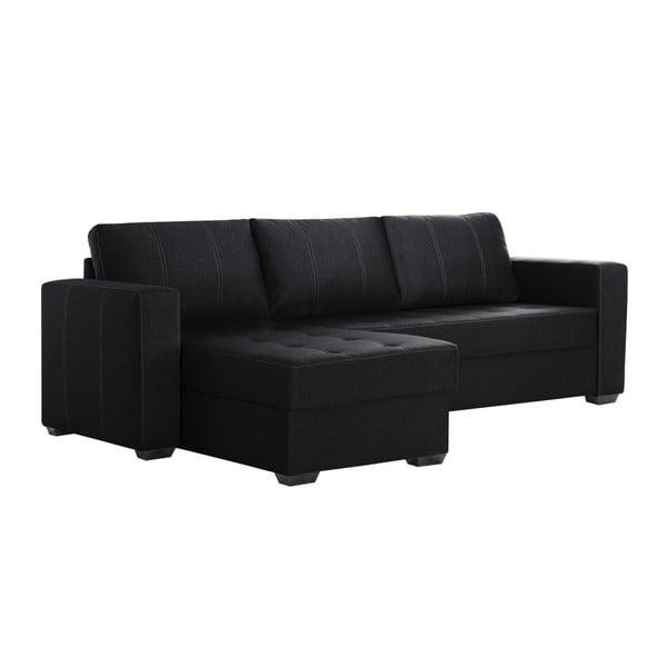 Černá sedačka Interieur De Famille Paris Succes, pravý roh