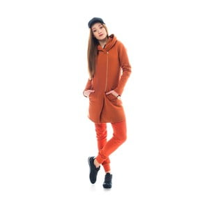 Oranžový kardigan Lull Loungewear Beggars, vel.XL