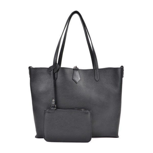 Čierna kožená kabelka Roberta M Masna