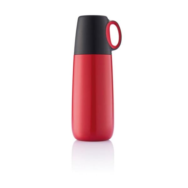 Červená termoska s hrníčkem XD Design Bopp Hot,600ml