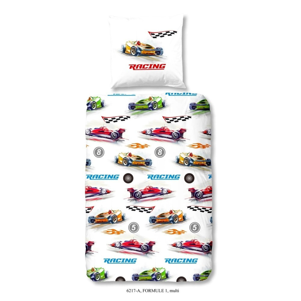 Dětské bavlněné povlečení Good Morning Formule 1, 140x200cm