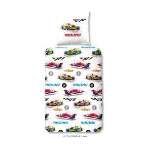 Dětské povlečení z bavlny na jednolůžko Good Morning Formule 1, 140x200cm
