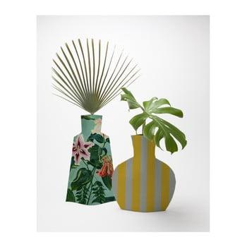 Set 2 vaze Surdic Flower Vases Turquoise Flowers de la Surdic