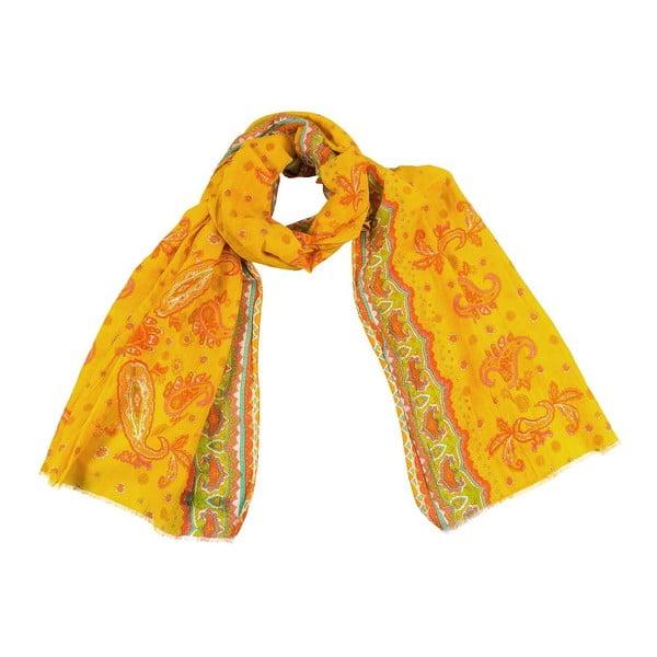 Šátek s příměsí hedvábí Shirin Sehan - Bella Sun