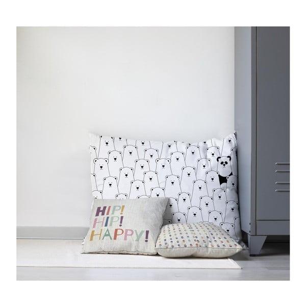 Dětský polštář na hraní Little Nice Things Polar Bears, 80 x 60 cm
