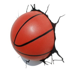 Nástěnné světlo s nálepkou Tnet Basketball