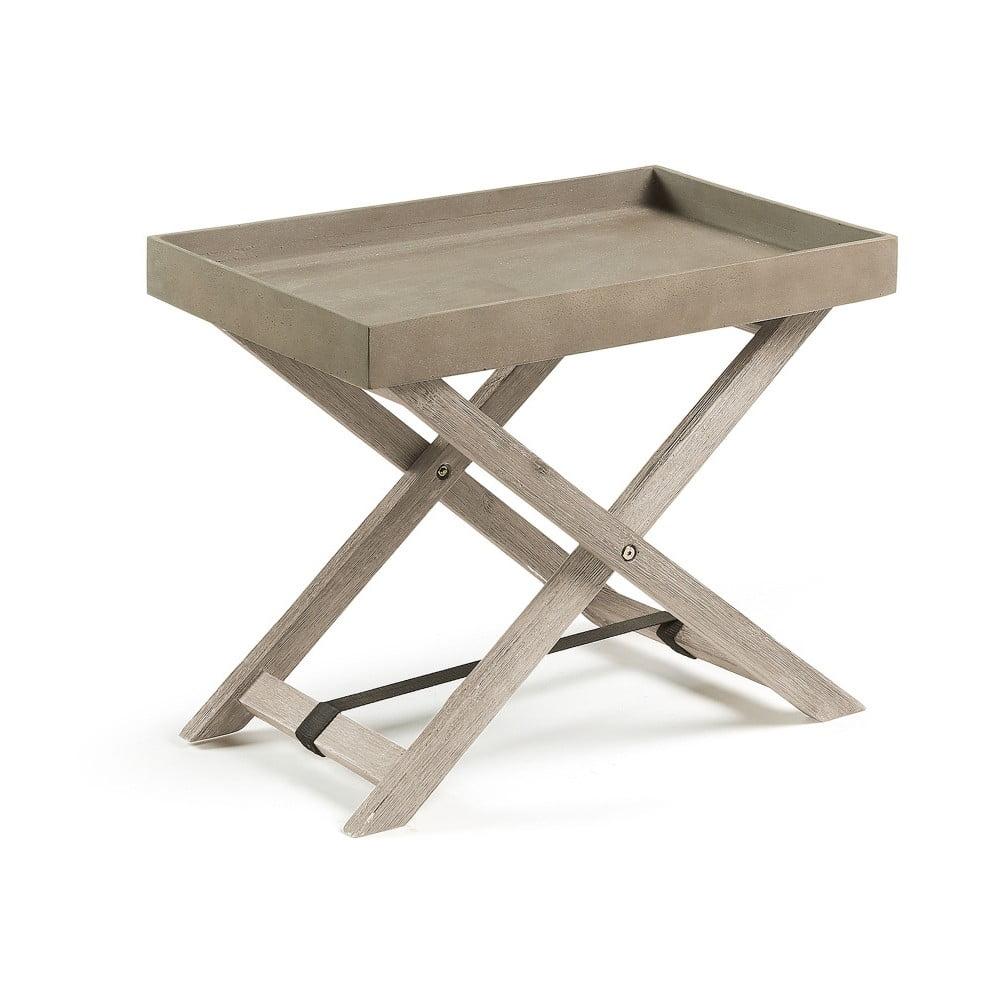 Šedý skládací stolek La Forma Stahl