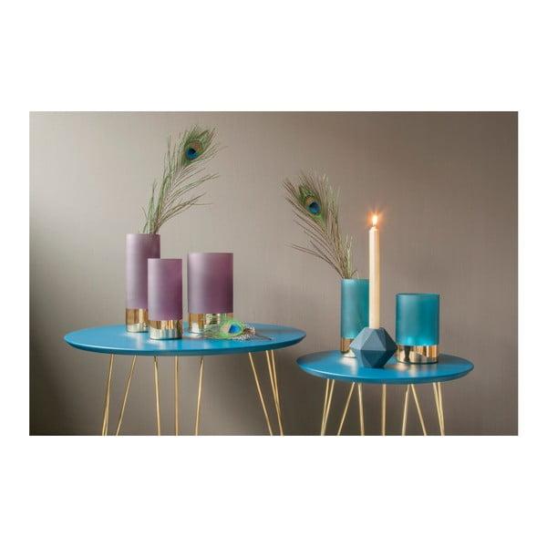 Fialovo-zlatá matná váza PT LIVING Glamour, výška 20 cm