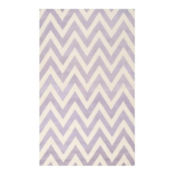 Vlněný koberec Stella Light Purple, 121x182 cm