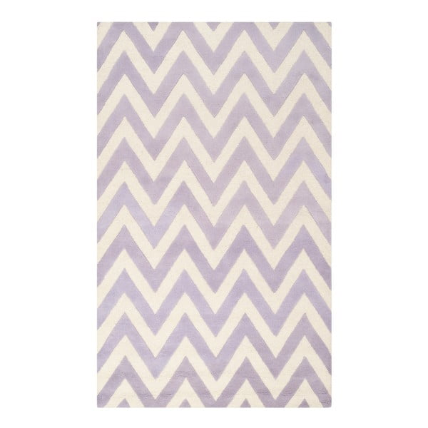 Vlněný koberec Safavieh Stella Light Purple, 274 x 182 cm