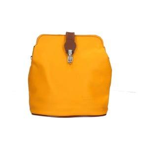 Žlutá kožená kabelka Chicca Borse Cuoio 8ac2d0eb9e0