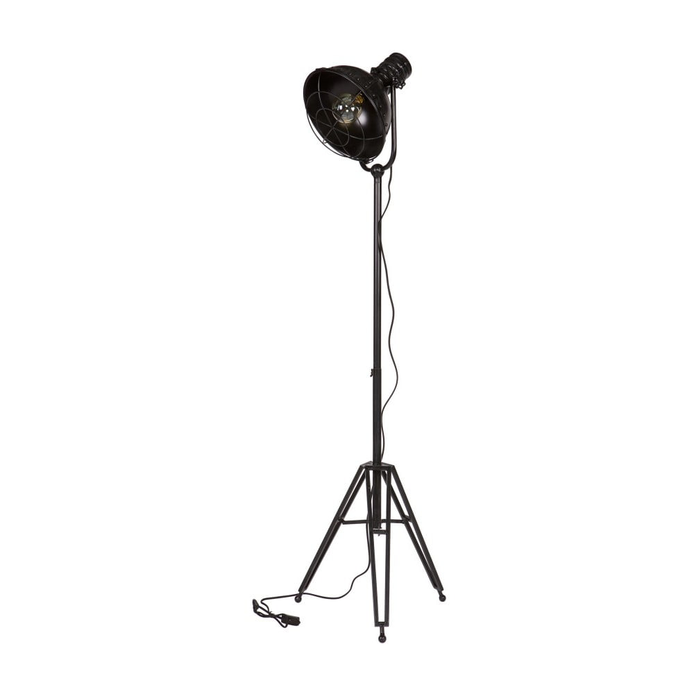 Černá stojací lampa De Eekhoorn Spotlight